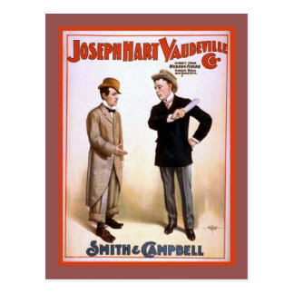 Joseph Hart Vaudeville Co Theater Poster Postcard