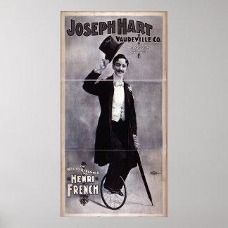 Joseph Hart Vaudeville, 'Henry French' Retro Poster