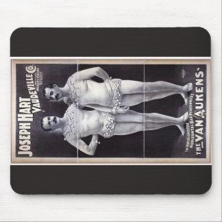 Joseph Hart Vaudeville, 'The Vanaukens' Retro Thea Mouse Pad