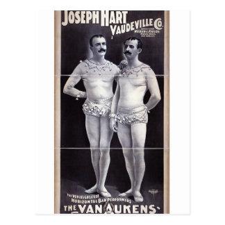 Joseph Hart Vaudeville, 'The Vanaukens' Retro Thea Postcard