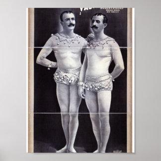Joseph Hart Vaudeville The Vanaukens Retro Thea Poster