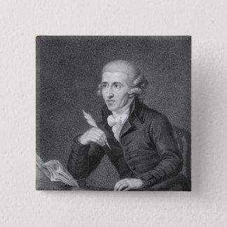 Joseph Haydn  engraved by Schiavonnetti, 1792 Button