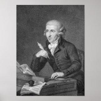 Joseph Haydn  engraved by Schiavonnetti, 1792 Poster