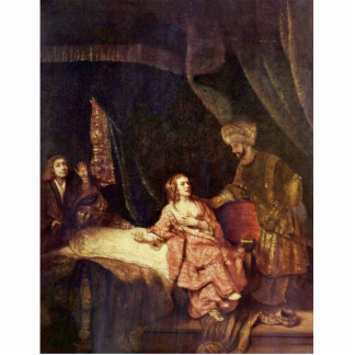Joseph Is Accused By Potiphar'S Wife By Rembrandt Statuette