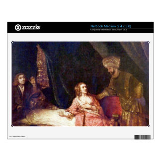 Joseph is accused by Potiphars woman by Rembrandt Skins For Netbooks