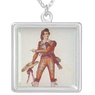 Joseph Isidore Samson  in the role of Figaro Square Pendant Necklace