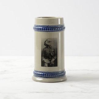 """Joseph """"John"""" Merrick The Elephant Man from 1889 Beer Stein"""