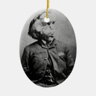 "Joseph ""John"" Merrick The Elephant Man from 1889 Ceramic Ornament"