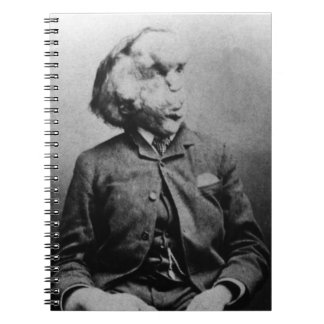 "Joseph ""John"" Merrick The Elephant Man from 1889 Notebook"