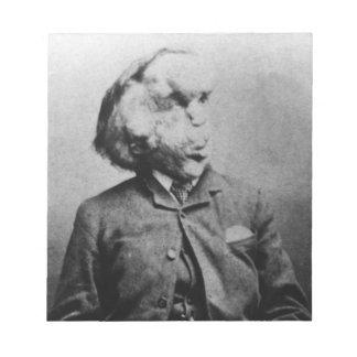 """Joseph """"John"""" Merrick The Elephant Man from 1889 Memo Notepad"""