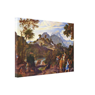 Joseph Koch - Scouts from the Promised Land Canvas Print