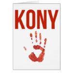 "Joseph Kony 2012 - ""Bloody Hand"" Merchandise Cards"