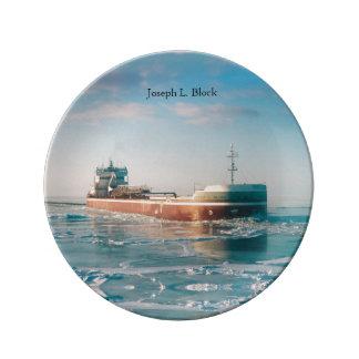 Joseph L. Block decorative plate