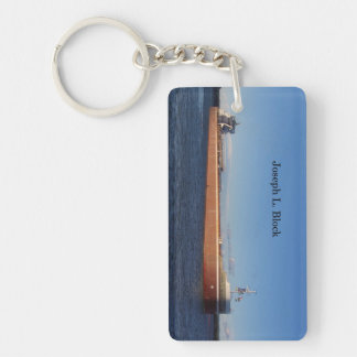 Joseph L. Block recatangle key chain