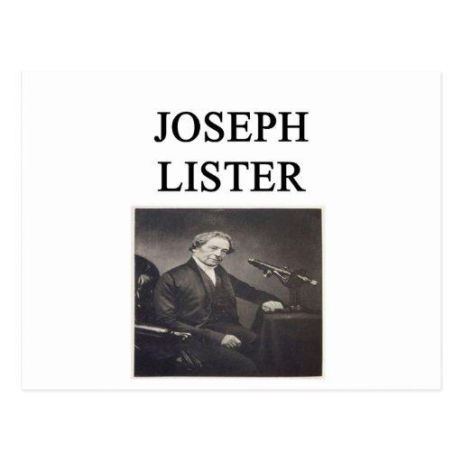 Joseph Lister Postal