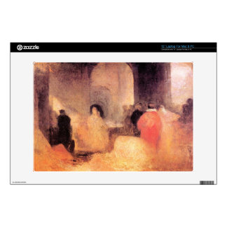 Joseph Mallord Turner - A dinner in a large room w Laptop Decal