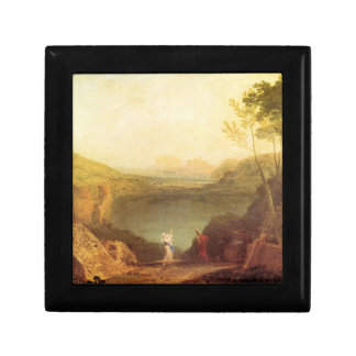 Joseph Mallord Turner - Aeneas and Cybelle at Lake Trinket Boxes