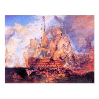 Joseph Mallord Turner - Battle of Trafalgar 2 Postcard