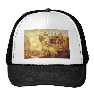 Joseph Mallord Turner - Battle of Trafalgar Mesh Hats
