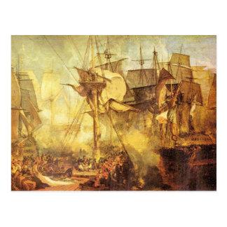 Joseph Mallord Turner - Battle of Trafalgar Postcard