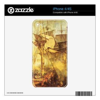 Joseph Mallord Turner - Battle of Trafalgar Skin For The iPhone 4S