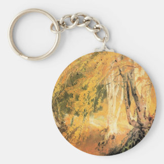 Joseph Mallord Turner - Beech woods with Gypsies 2 Key Chain
