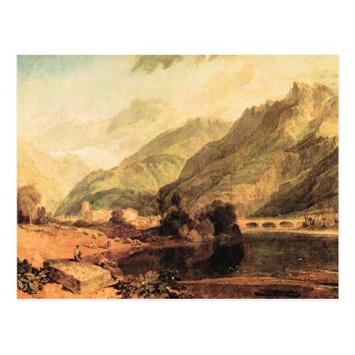 Joseph Mallord Turner - Bonneville Savoy with Mont Postcard