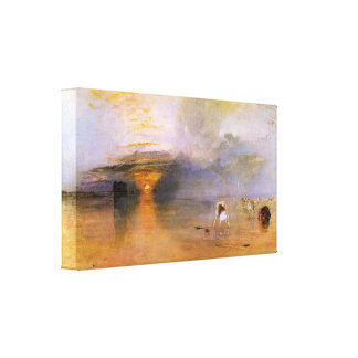 Joseph Mallord Turner - Calais - Collecting bait Canvas Prints