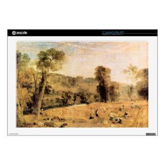 "Joseph Mallord Turner - Cassiobury Park - Harvest 17"" Laptop Decal"