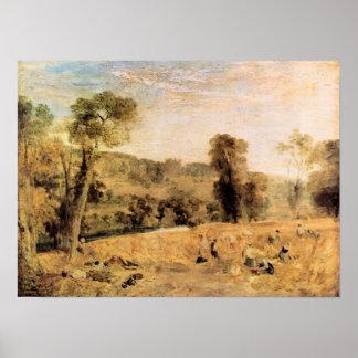 Joseph Mallord Turner - Cassiobury Park - Harvest Poster