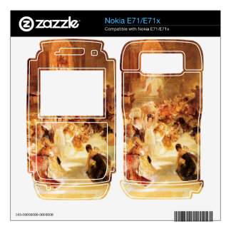 Joseph Mallord Turner - Christ driving the traders Nokia E71 Decal