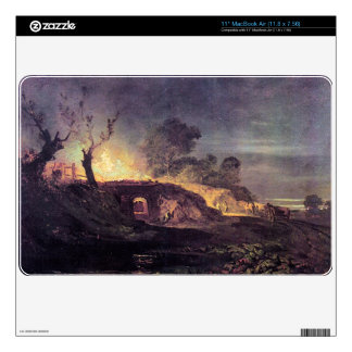 Joseph Mallord Turner - Coalbrookdale Decals For MacBook