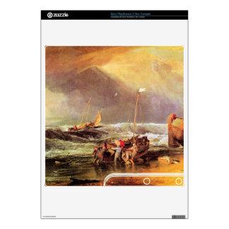 Joseph Mallord Turner - Coastal scene with fisherm PS3 Slim Decal
