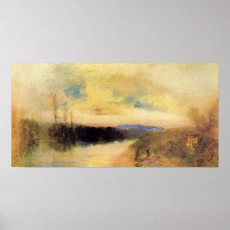 Joseph Mallord Turner - Evening landscape Poster