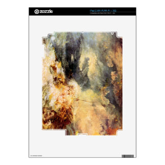 Joseph Mallord Turner - Fire at sea Decal For iPad 2