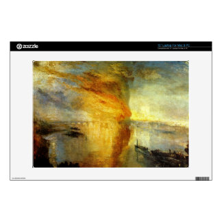 Joseph Mallord Turner - Fire at the Parliament bui Decals For Laptops