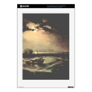 Joseph Mallord Turner - Fisherman at sea Skins For PS3 Console