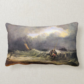 Joseph Mallord Turner - Fishermen in a squall Throw Pillow