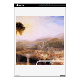 Joseph Mallord Turner - Fountain of indolence Decals For PS3 Slim