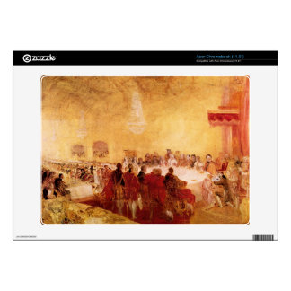Joseph Mallord Turner - George IV at banquet in Ed Acer Chromebook Decals