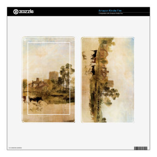 Joseph Mallord Turner - Goring Mill and church Kindle Fire Skins