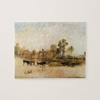 Joseph Mallord Turner - Goring Mill and church Puzzle