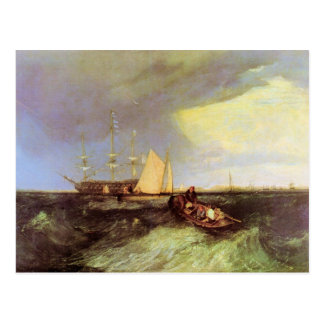 Joseph Mallord Turner - Guardship at the great Nor Postcard