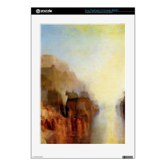 Joseph Mallord Turner - Harbor with town and fortr PS3 Decal