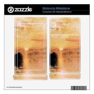 Joseph Mallord Turner - Lake Petworth sunset Motorola Milestone Skin