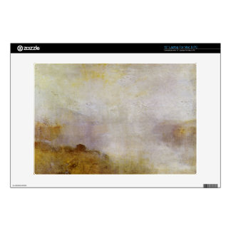 Joseph Mallord Turner - Mountain scene with lake a Decal For Laptop