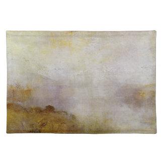 Joseph Mallord Turner - Mountain scene with lake a Place Mats