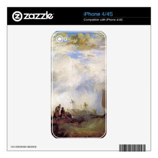 Joseph Mallord Turner - Orange merchant at sea Decals For iPhone 4S