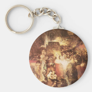 Joseph Mallord Turner - Pilate washing his hands Key Chain