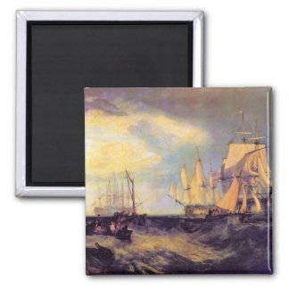 Joseph Mallord Turner - Recovering an anchor Refrigerator Magnets